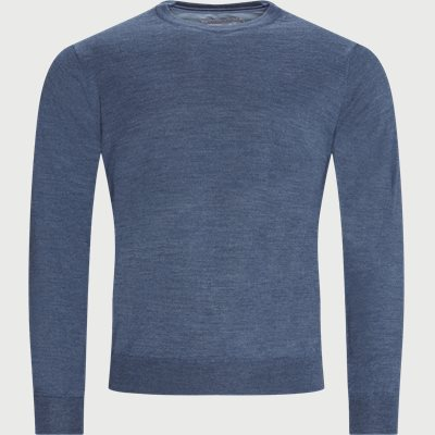 Lipan Merino Striktrøje Regular | Lipan Merino Striktrøje | Denim